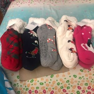 Bundle of 5 Sherpa slipper socks